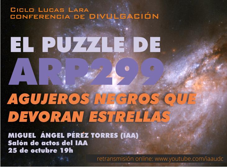 The Arp299 puzzle. Black holes that devour stars
