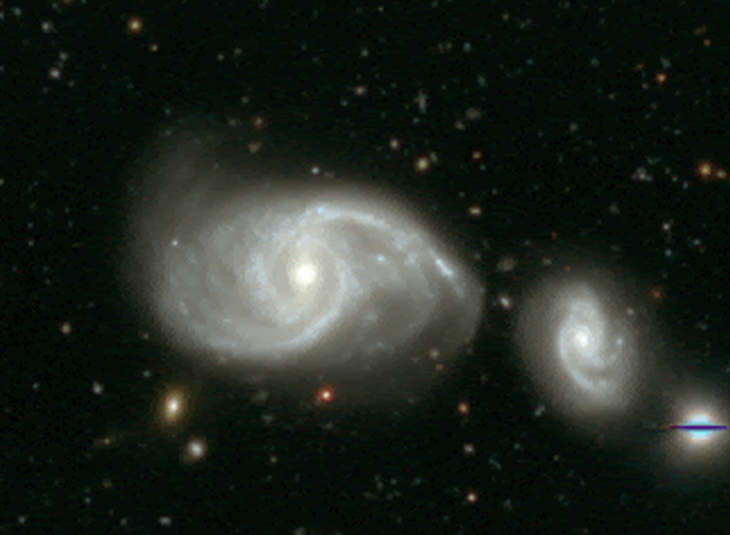 MeerKAT discovers a group of galaxies hidden in a well-studied region