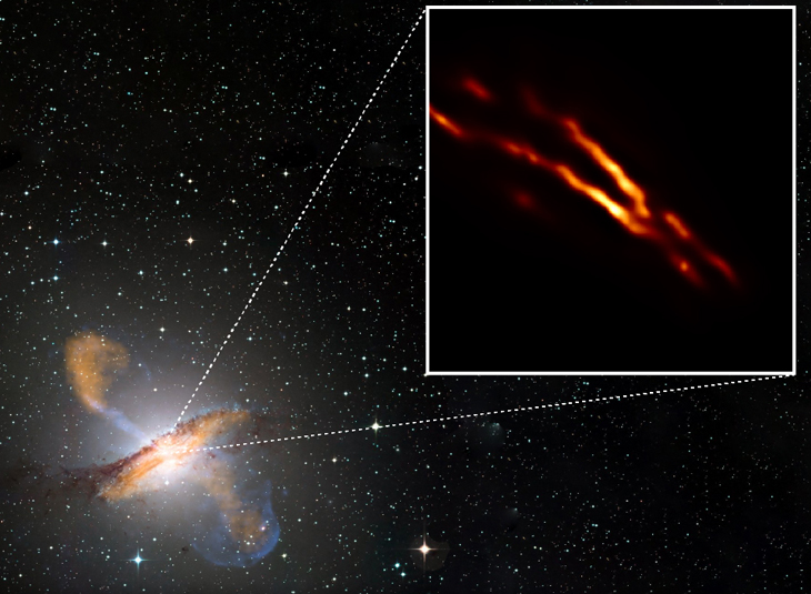 The Event Horizon Telescope (EHT) pinpoints the central black hole of the galaxy Centaurus A