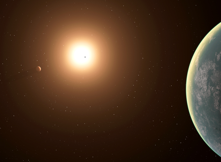 Space and ground-based observations reveal a planetary trio around a nearby star