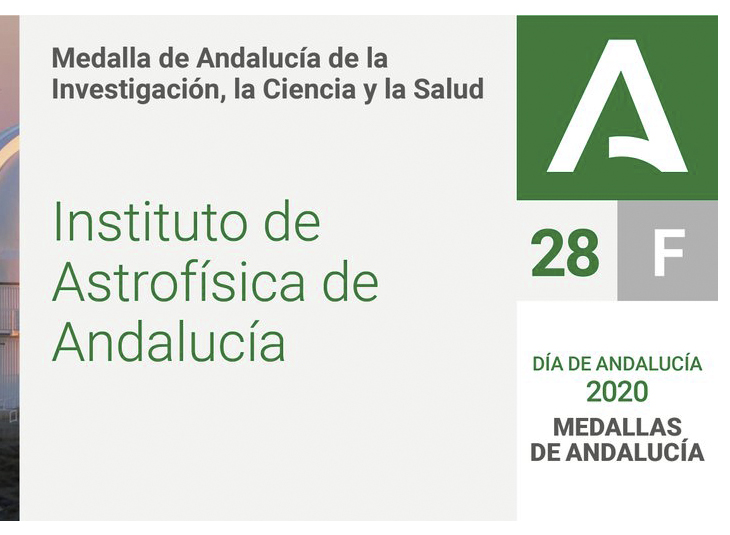 The Institute of Astrophysics of Andalusia, Medal of Andalusia 2020