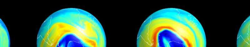Imagen de satélite de la región antártica