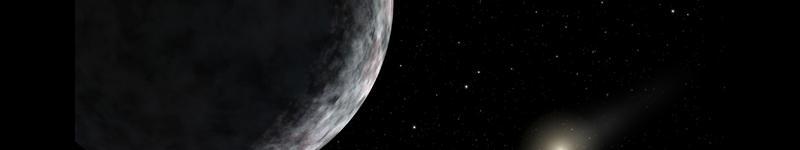 Representación artística del exoplaneta ERIS