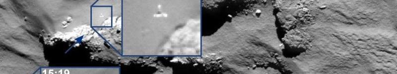 Mosaico del cometa 67P realizada por el módulo PHILAE