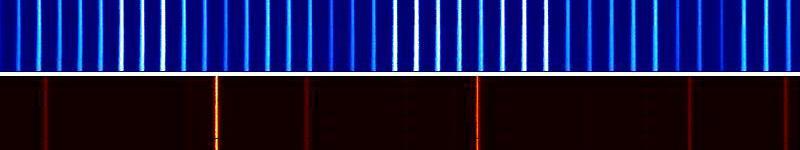 Espectro de peinde de luz vs. neón