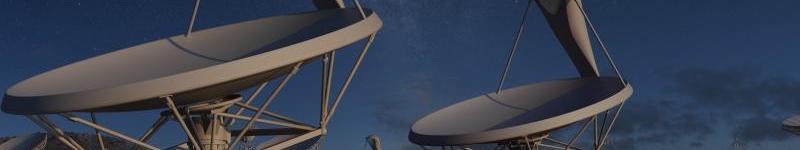 Concepción artística de las antenas parabólicas de SKA