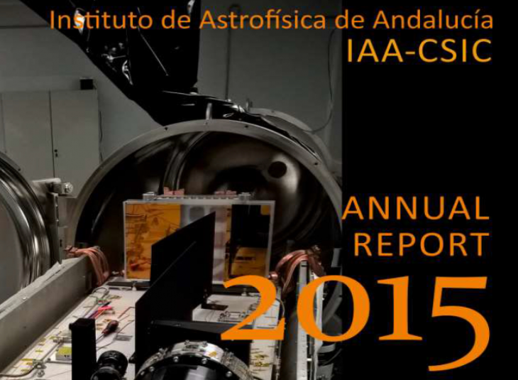 Cover image of 2015 IAA-CSIC Activity Report