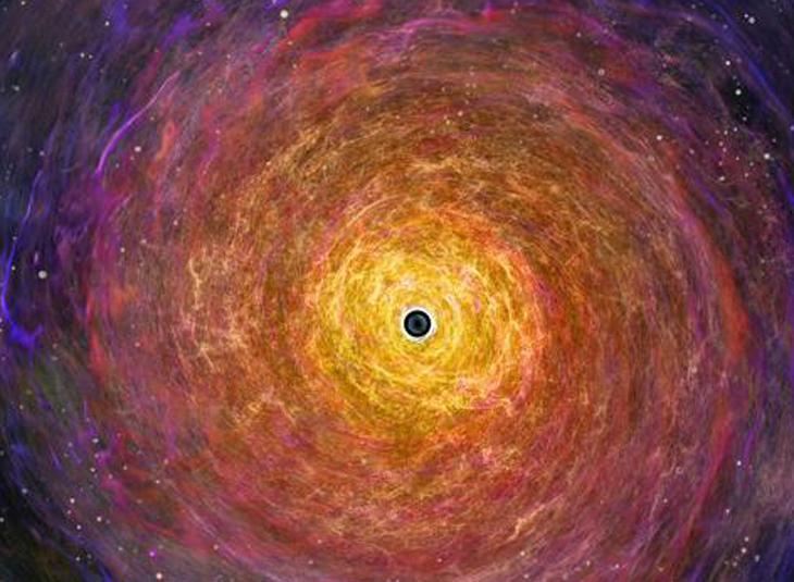 Representación del agujero negro supermasivo en la galaxia M87 - Nicolle R. Fuller/NSF