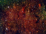 Imagen en falso color de uno de los campos estudiados por el proyecto Galacticnucleus. Fuente: Proyecto Galacticnucleus.